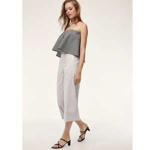 Aritzia Babaton Eckerd Blouse Strapless Crop Top
